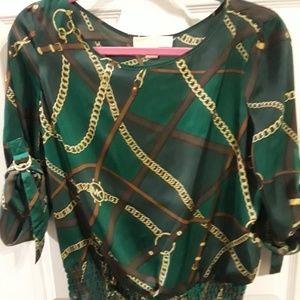 Michael Kors Beautiful Green Silky Blouse